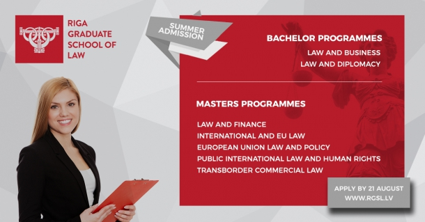 Open House for Bachelor and Masters programmes at Riga Graduate School of Law