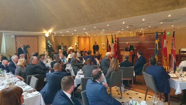 Luncheon with the President of Latvia, Egils Levits